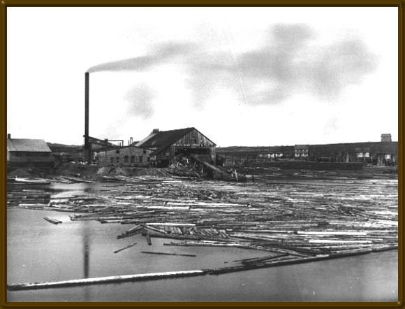 The Exploits Lumber Company mill at Botwood. This mill was one of the biggest consumers of Exploits Valley lumber prior to the opening of the Grand Falls Mill. (Photo Credit-CNS Archives MUN).