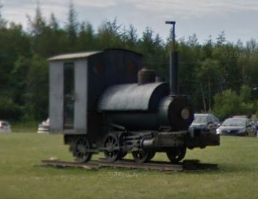 Number 7 as she is today rebuilt and restored on display next to the Mary March Museum in Grand Falls-Windsor, NL (Photo from Google Street View)