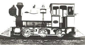 Builders photo of Harbour Grace Railway ( A.L Blackman Syndicate) Engine Number 1, also known as Botwood Railway No. 7. (Photo from the Canadian Museum of Science and Technology http://www.images.technomuses.ca/searchpf.php?id=38932&lang=en