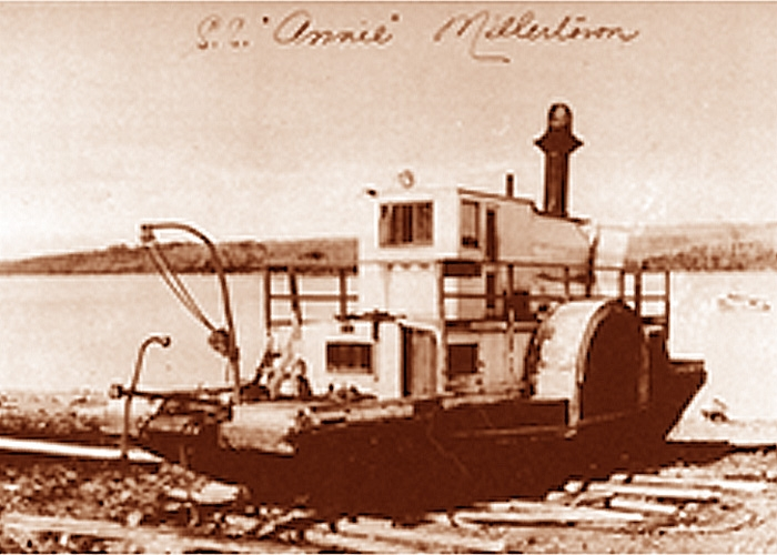 The West and Peachy steam warping tug SS Annie was the first boat used at Millertown. She was shipped to Newfoundland as a kit and assembled at Red Indian Lake. (http://www.virtualmuseum.ca/sgc-cms/histoires_de_chez_nous-community_memories/pm_v2.php?id=thumbnail_gallery&fl=0&lg=English&ex=00000574&pos=73)