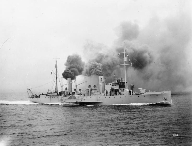 Towards the end of the war Able Seaman Baker was posted aboard HMS Croxton-A paddle minesweeper of the same class as the one pictured. (Imperial War Museum)