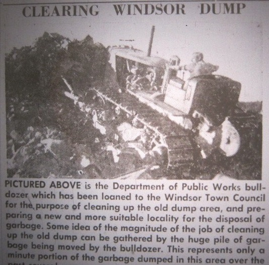 Clearing up the Windsor Dump on Forest Road 1953 (photo from the Grand Falls Advertiser via Jim Paddock)