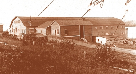 The Exploits Valley Royal Stores branch at Millertown was initially situated in one of the buildings that housed Lewis Millers great sawmill. As early as 1908 3000 different loggers passed through town, most of them making a stop at the Royal Stores ( Millertown Virtual Museum)