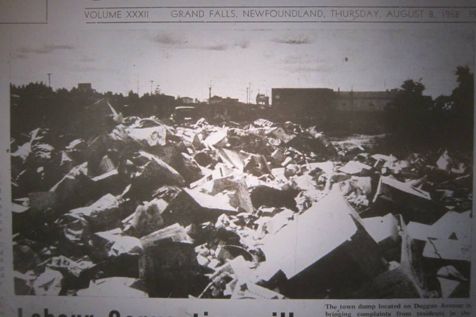 Around 1968 there was a dump on Duggan Street most likely on the site of the Government Depot. (Photo from the Advertiser 1968 via Jim Paddock)