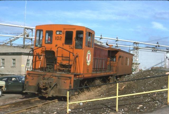 GFRC 102 and caboose Grand Falls NF May 10th 1975 (1)