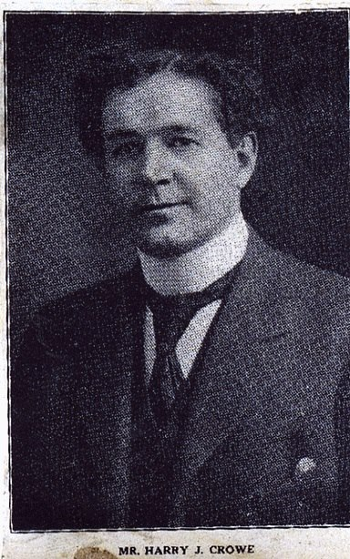 Timber Magnate Harry Judson Crowe. Crowe operated mills in Botwood, Badger and Point Leamington and was a driving force in attracting pulp and paper interests to Newfoundland.