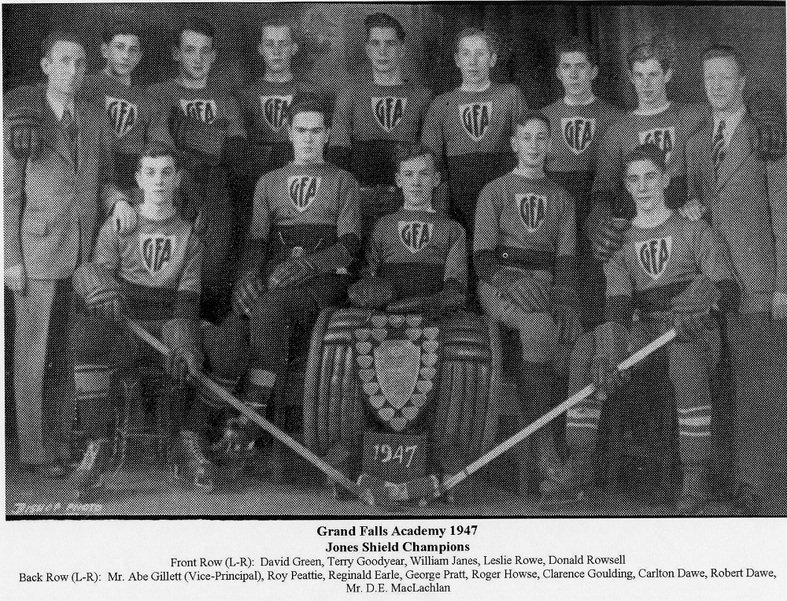 Grand Falls Academy-Jones Shield Champions 1947. GFA won a slew of Jones Shield victories during the 1940's.