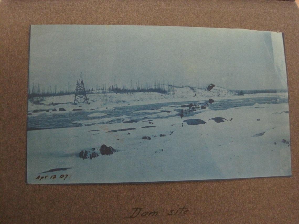 The Exploits River before the dam was put on the Grand Falls-1907 (MUN Archives)