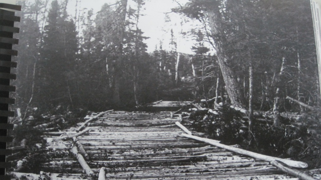Before there were any people at Grand Falls there was a tote road similar to this one along what is now Beaumont Avenue that had been used by earlier loggers and native peoples. (GFW Heritage Society)
