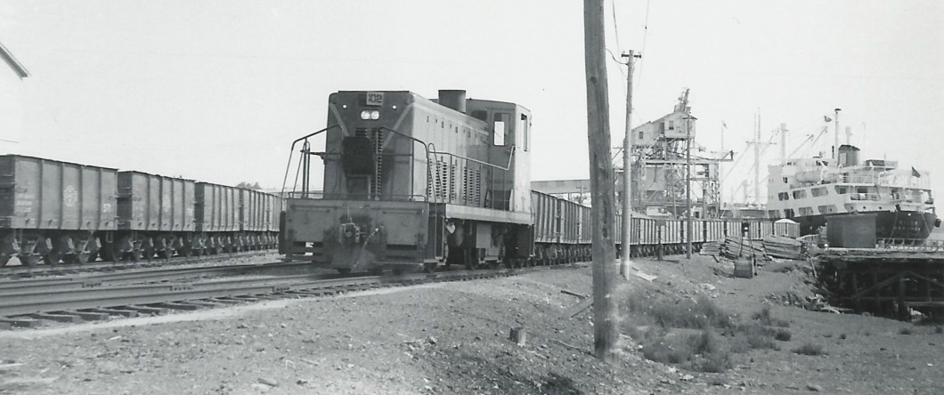 GFCRR train at the port of Botwood, 1967.