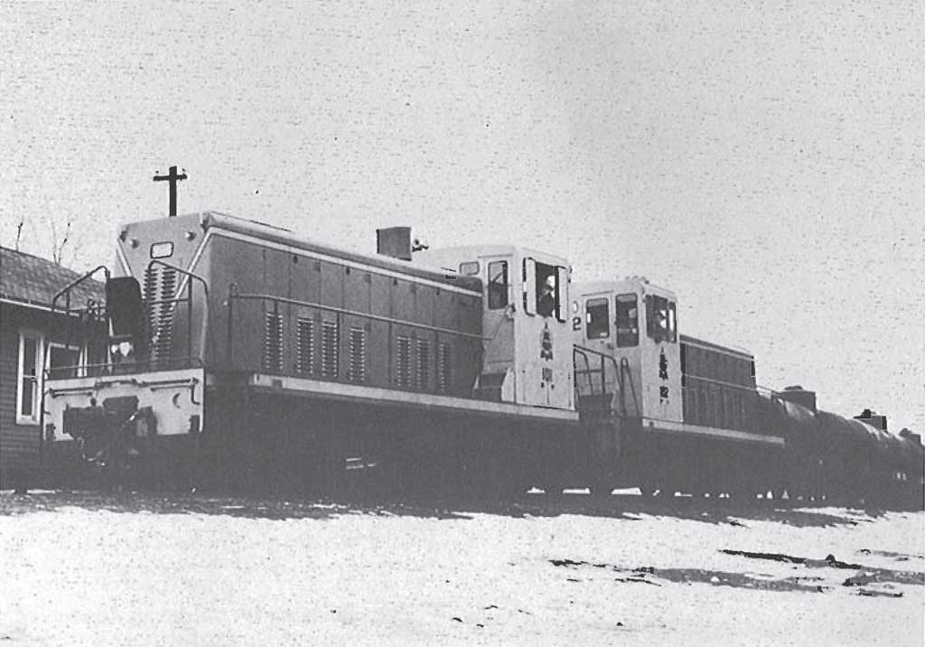 First run of the General Electric Diesels on the Grand Falls Central Railway March 1958.