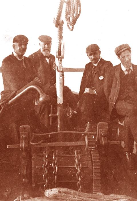 Lewis Miller on boat