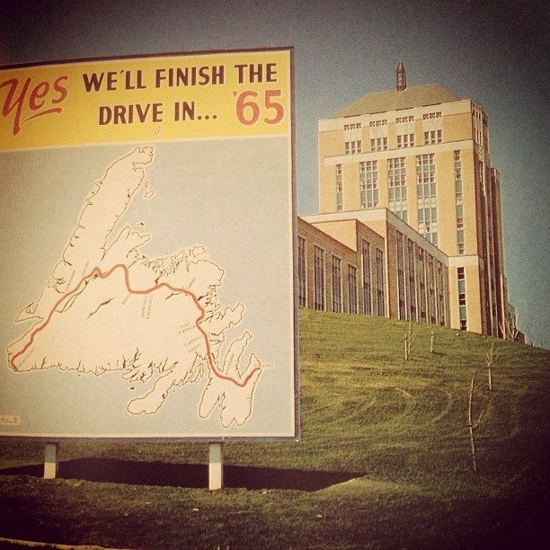 Finish the drive in 65 sign