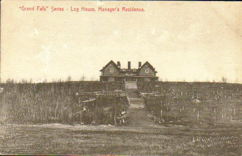 The Log House shortly after completion circa 1908.