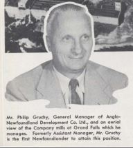 Philip Gruchy was the last general manager of the AND Co that lived in the Grand Falls House. (Atlantic Guardian)