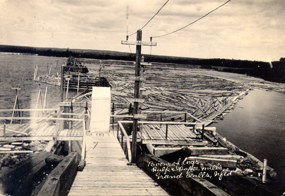 The Mill Pond and jackladder at Grand Falls.