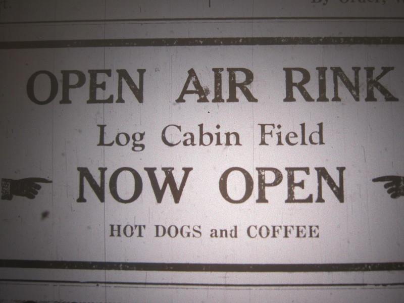 rink log cabin field 1938