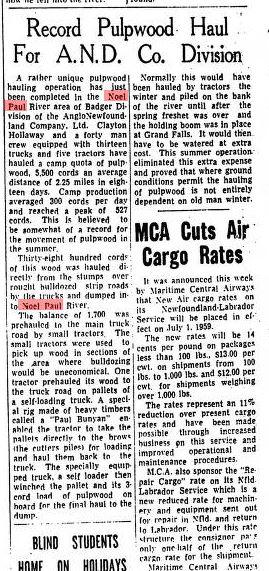 Daily News Paul Bunyan Pull off Clayton Holloway July 1959