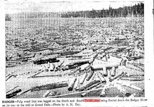 Pulpwood Twin lakes, AM Day Daily News 11 17 1956