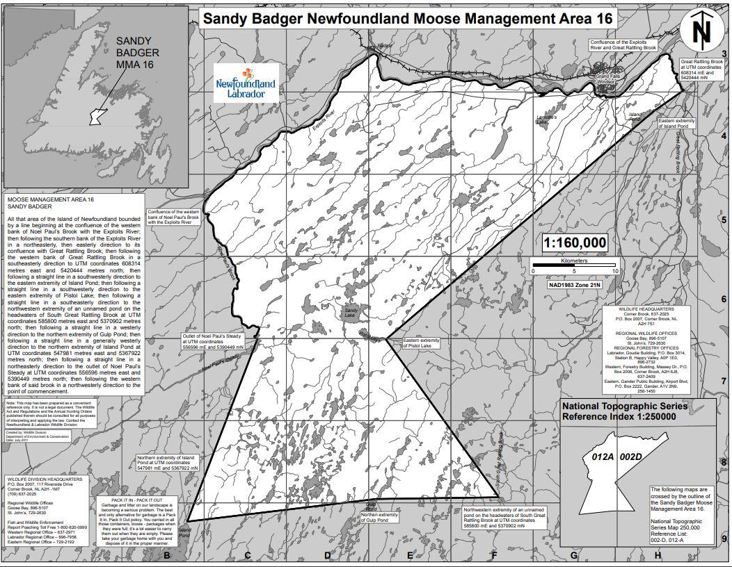Sandy badger Map