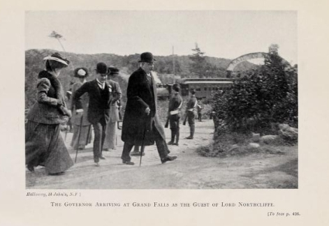 Governor Williams at Grand Falls 1909