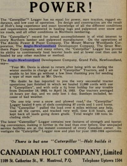 Holt Ad AND Co Canada Lumberman July 1923 Text..JPG