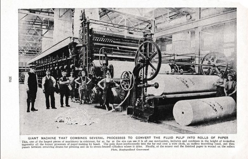 Paper machines grand Falls Peoples of all nations 1920