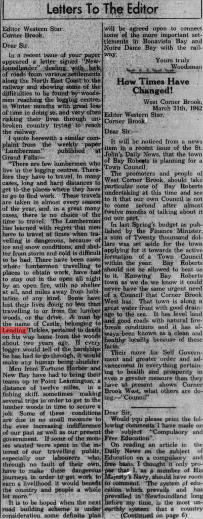 1942 Noah Cassel logging death