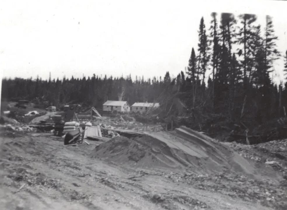 Road building near victoria 1949-50