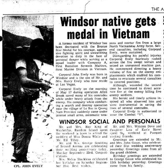 John Evely Vietnam 1968
