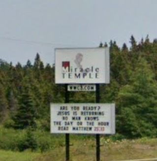 Miracle Temple Sign